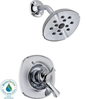 Delta Addison Single Handle 1 Spray Shower Trim in Chrome featuring H2Okinetic T17292