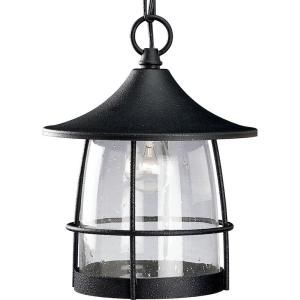Progress Lighting Prairie Collection Outdoor Hanging Gilded Iron Lantern P5563 71