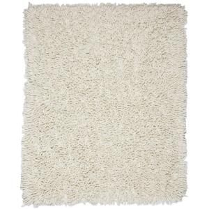 Anji Mountain Ivory White 9 ft. x 12 ft. Silky Shag Area Rug AMB0651 0912