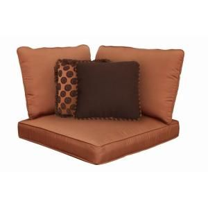 Hampton Bay Cibola Replacement Outdoor Sectional Corner Chair Cushion and Throw Pillow Set FW HUNCACHAR CUSH