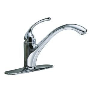 KOHLER Forte Single Hole 1 Handle Low Arc Kitchen Faucet in Polished Chrome K 10411 CP