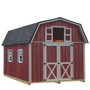 Best Barns Woodville 10 ft. x 12 ft. Wood Storage Shed Kit with Floor including 4x4 Runners woodville_1012df