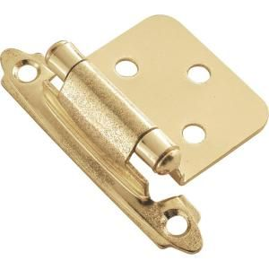 Hickory Hardware Polished Brass Surface Self Closing Hinge (2 Pack) P144 3