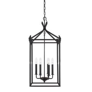 World Imports Hastings Collection 6 Light Hanging Pendant in Rust WI6140542
