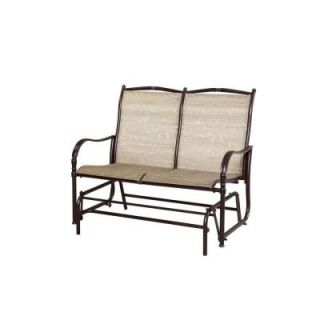 Hampton Bay Altamira Tropical Patio Bench Glider D9976 GT