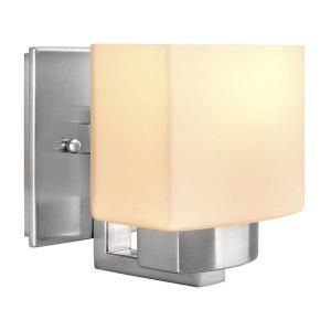 Hampton Bay 1 Light Brushed Nickel Wall Sconce 25088