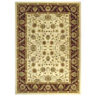 Safavieh Lyndhurst Ivory/Red 8.9 ft. x 12 ft. Area Rug LNH215A 9