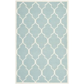 Safavieh Hand woven Moroccan Dhurrie Light Blue Wool Rug (8 X 10)
