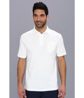 Under Armour Golf Charged Cotton Pocket Polo Mens Short Sleeve Knit (White)