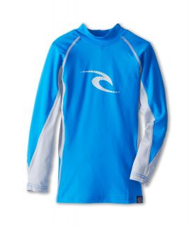 Rip Curl Kids Wave L/S Rashguard Boys Swimwear (Blue)