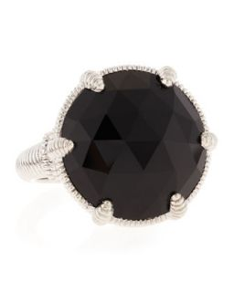 Black Onyx Silver Eclipse Ring