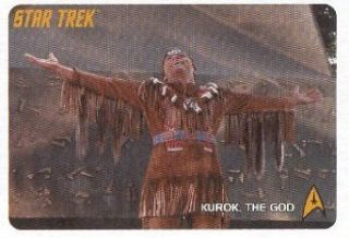 2009 Rittenhouse Star Trek The Original Series #254 Kurok the God Trading Card Entertainment Collectibles