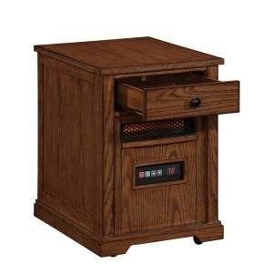 Duraflame 1500 Watt Electric Infrared Quartz Heater with Drawer   Oak DISCONTINUED 10HET6493 O107