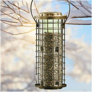 Perky Pet Squirrel Stumper Bird Feeder Landscape & Garden Decor