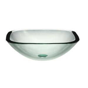 DECOLAV Translucence Glass Vessel Sink in Natural 1139T TNG
