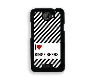 Love Heart Kingfishers HTC One X Case   Fits HTC One X Cell Phones & Accessories