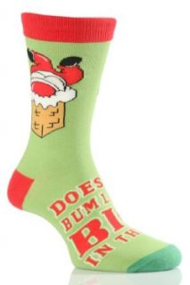 SockShop Men's 1 Pair Christmas Does My Bum Look Big in This Socks 7 12 Men's Green Clothing