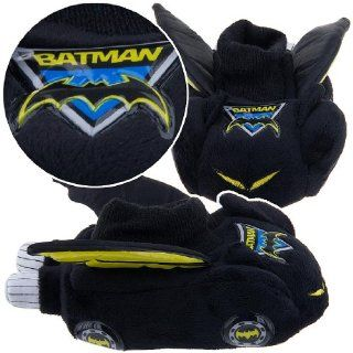Boy Shoe Size 5 6, Raglan, Justice League, Dc Direct Batman, Soft Plush Comfy Slippers Sock Top Shoes, Great Halloween Costume Toys & Games