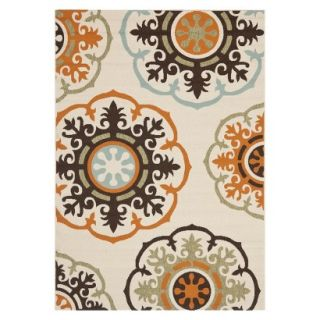 Safavieh Croatia Indoor/Outdoor Area Rug   Cream/Terracotta (8x112)