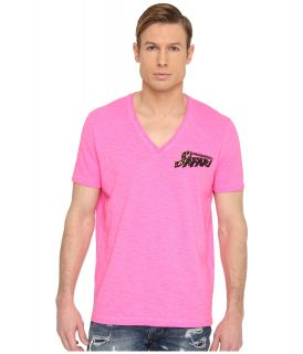 DSQUARED2 New Surf Fit Safari Cotton Linen Tee Mens T Shirt (Pink)