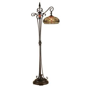 Dale Tiffany 59.5 in. Briar Dragonfly Downbridge Antique Golden Sand Floor Lamp TF13065