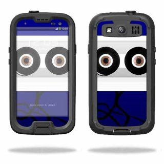 Protective Vinyl Skin Decal Cover for LifeProof Samsung Galaxy S III S3 Case fre Sticker Skins Cassette Head Cell Phones & Accessories