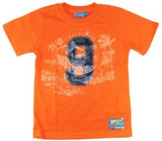 Number One Boys Toddler Super Soft #9 Summer Short Sleeve Tee Shirt 4 orange Fashion T Shirts Clothing