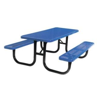 Ultra Play 6 ft. Diamond Blue Commercial Park Rectangular Table Portable PBK238 V6B