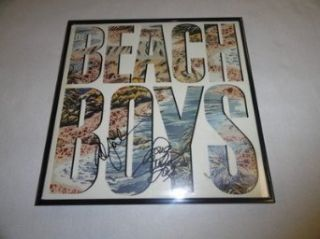 Mike Love & Al Jardine Signed Framed The Beach Boys Self Titled Lp Album 2x   Autographed CD's The Beach Boys Entertainment Collectibles