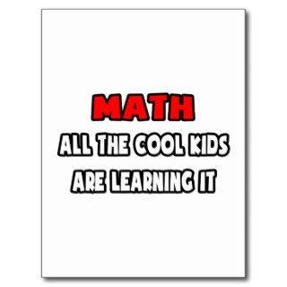 Funny Math Teacher Shirts and Gifts Post Cards