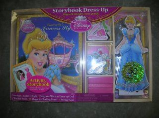Disney Princess Cinderella Storybook Dress Up Magnetic Wooden Dress Up Doll   50 Pieces Toys & Games