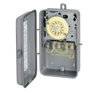 Intermatic 40 Amp 208 277 Volt 24 Hour DPST Mechanical Time Switch with Outdoor Enclosure T104RD89