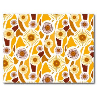 Vintage orange sunflower pattern post cards