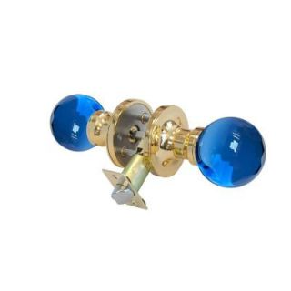 Krystal Touch of NY Sapphire Crystal Brass Privacy Door Knob with LED Mixing Lighting Touch Activated DL3605BPRI