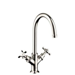 Hansgrohe Axor Montreux Single Hole 2 Handle Bathroom Faucet in Polished Nickel 16502831