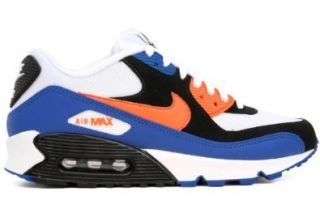 "Nike Air Max 90 ""NYC"" Mens Running Shoes [309299 127] White/Bright Mandarin Black Mens Shoes 309299 127 7 Shoes"