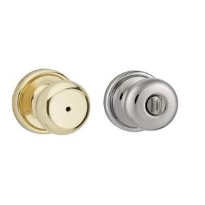 Kwikset Hancock Polished Brass/Polished Chrome Bed/Bath Knob 730H 3X26 RCAL RCS KI BBPKG
