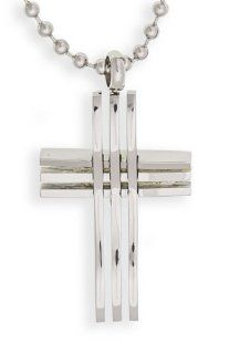 EDFORCE Stainless Steel Cross Pendant (136 0044 P) Pendant Necklaces Jewelry