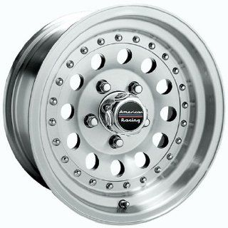 14x7 American Racing Outlaw II (Machined w/ Clear Coat) Wheels/Rims 6x139.7 (AR624783) Automotive