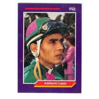 Adalberto Lopez trading card (Horse Racing) 1992 Jockey Star #145 Entertainment Collectibles