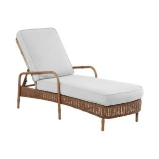 Hampton Bay Clairborne Patio Chaise Lounge with Bare Cushion DY11079 C B