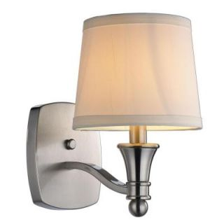 Hampton Bay Towne Collection 1 Light Wall Sconce Brushed Nickel Finish EW1303SBA