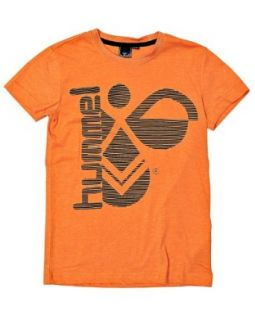 Hummel Fashion Men's Hummel T shirt 152/12 years Orange Novelty T Shirts Clothing