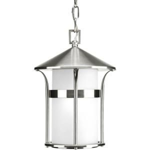 Progress Lighting Welcome Collection 1 Light Stainless Steel Hanging Lantern P6506 135