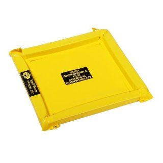 "New Pig PAK723 Vinyl FlexBerm Spill Containment Pad, 5 Gallon Capacity, 2.7' Length x 2.7' Width x 2"" Height, Yellow Science Lab Spill Containment Supplies"