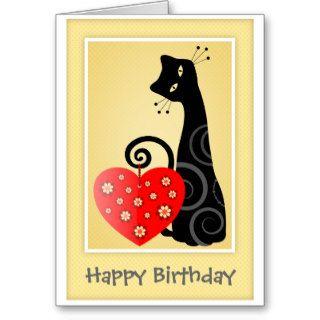 Happy Birthday Cute Kitty Greeting Card