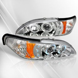 Ford Mustang 94 95 96 97 98 Projector Headlights /w Halo/Angel Eyes ~ pair set (Chrome) Automotive