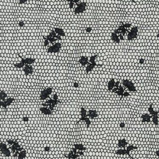Lovely Lace Quilter's Cotton Fabric Two Yards (1.8m) ESK 13488 189 Ebony