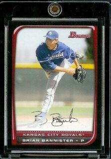 2008 Bowman # 193 Brian Bannister   Kansas City Royals   MLB Baseball Trading Card Sports Collectibles