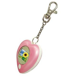 "Digital Photo/Picture Frame Heart Key Chain Pink 1.1"" LCD Photo Viewer Up to 196 Pictures  Camera And Photography Products  Camera & Photo"